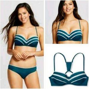 Shade and Shore Bikini 34C and L bottoms